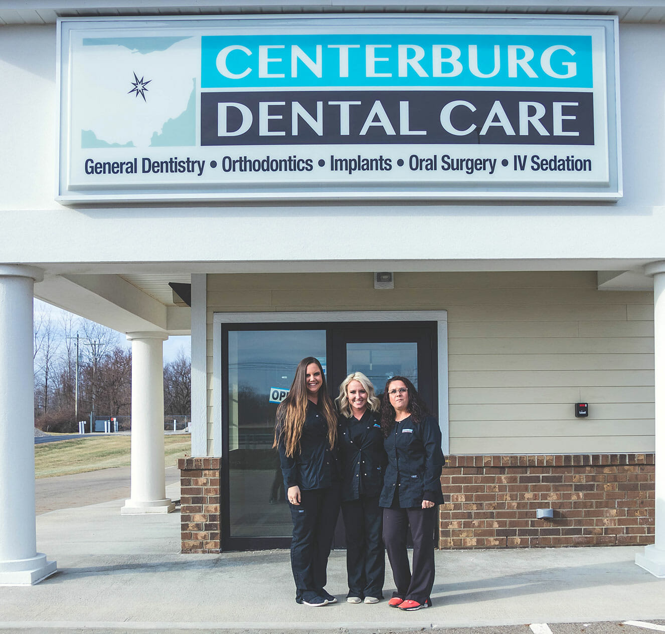 Team in front of Centerburg Dental Care
